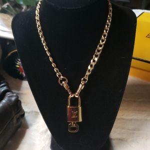 Louis Vuitton lock necklace
